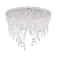 Schonbek CH2401N-401H Chantant 6 Light 24 inch Stainless Steel Flush Mount Ceiling Light in Clear Heritage Strand
