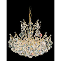 Schonbek Contessa 12 Light Chandelier in Gold and Crystal Swarovski Elements Trim 4821-20S