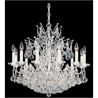 Schonbek Contessa 24 Light Chandelier in Silver and Crystal Swarovski Elements Trim 4823-40S