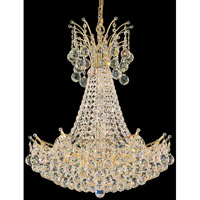 Schonbek Contessa 22 Light Chandelier in Gold and Crystal Swarovski Elements Trim 4825-20S