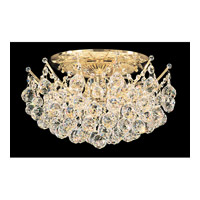 Schonbek Contessa 12 Light Semi Flush Mount in Gold and Crystal Swarovski Elements Trim 4826-20S