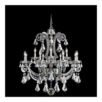 Schonbek Cadence 12 Light Chandelier in Black Pearl and Silver Shade Swarovski Elements Colors Trim 5335-49SH