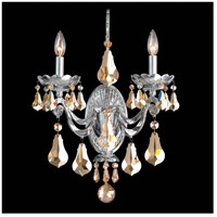 Cadence 2 Light 10 inch Powder Silver Wall Sconce Wall Light in Golden Shadow
