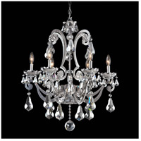 Cadence 6 Light 25 inch Powder Silver Chandelier Ceiling Light in Silver Shade