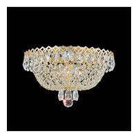 Schonbek Camelot 3 Light Flush Mount in Special Gold and Clear Gemcut Trim 2616-20
