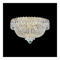 Schonbek Camelot 4 Light Flush Mount in Special Gold and Clear Gemcut Trim 2617-20