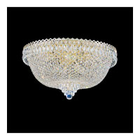 Schonbek Camelot 14 Light Flush Mount in Special Gold and Clear Gemcut Trim 2619-20