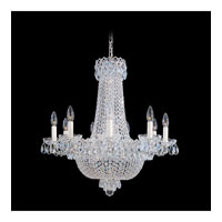 Schonbek Camelot 17 Light Chandelier in Polished Silver and Clear Gemcut Trim 2621-40