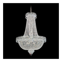 Schonbek Camelot 22 Light Chandelier in Polished Silver and Clear Gemcut Trim 2626-40