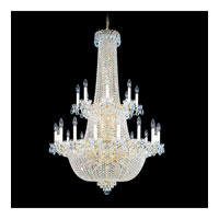 Schonbek Camelot 64 Light Chandelier in Special Gold and Clear Gemcut Trim 2639-20