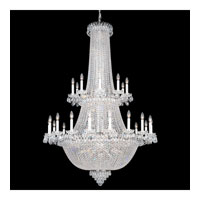 Schonbek Camelot 84 Light Chandelier in Polished Silver and Clear Gemcut Trim 2643-40