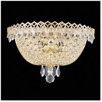 Camelot 2 Light 6 inch Polished Gold Wall Sconce Wall Light in Aurelia