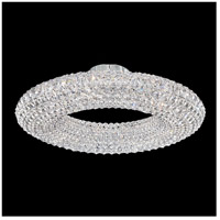 Schonbek CAC2525A Cassini 15 Light 25 inch Stainless Steel Flush Mount Ceiling Light in Clear Spectra, Geometrix