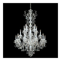 Schonbek Century 20 Light Chandelier in Silver and Clear Heritage Handcut Trim 1716-40