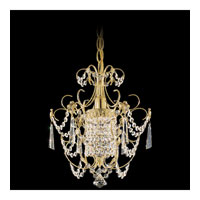 Schonbek Century 1 Light Chandelier in Gold and Clear Heritage Handcut Trim 1829-20