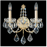 Schonbek 1702-40 Century 2 Light 6 inch Silver Wall Sconce Wall Light in Polished Silver