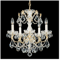 Century 5 Light 17 inch Silver Chandelier Ceiling Light