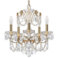 Schonbek 1704-22 Century 5 Light 17 inch Heirloom Gold Chandelier Ceiling Light