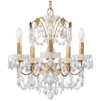 Schonbek 1704-26 Century 5 Light 17 inch French Gold Chandelier Ceiling Light