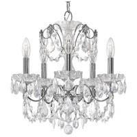 Century 5 Light 17 inch Silver Chandelier Ceiling Light in Polished Silver