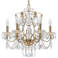 Schonbek 1705-22 Century 6 Light 21 inch Heirloom Gold Chandelier Ceiling Light