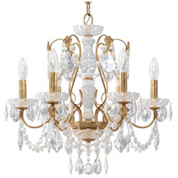 Schonbek 1705-26 Century 6 Light 21 inch French Gold Chandelier Ceiling Light