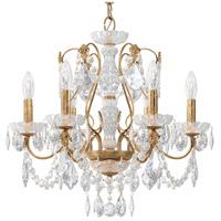 Schonbek 1705-26 Century 6 Light 21 inch French Gold Chandelier Ceiling Light