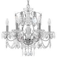 Century 6 Light 21 inch Silver Chandelier Ceiling Light in Polished Silver