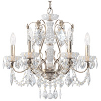 Schonbek 1705-48 Century 6 Light 21 inch Antique Silver Chandelier Ceiling Light