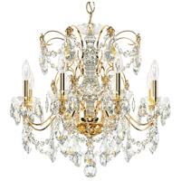 Schonbek 1707-22 Century 8 Light 24 inch Heirloom Gold Chandelier Ceiling Light