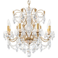 Schonbek 1707-26 Century 8 Light 24 inch French Gold Chandelier Ceiling Light