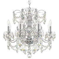 Century 8 Light 24 inch Silver Chandelier Ceiling Light in Polished Silver