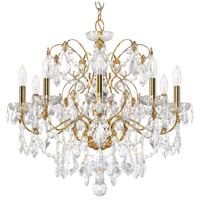 Schonbek 1709-22 Century 9 Light 26 inch Heirloom Gold Chandelier Ceiling Light