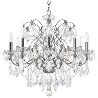 Schonbek 1709-40 Century 9 Light 26 inch Silver Chandelier Ceiling Light in Polished Silver
