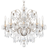 Schonbek 1709-48 Century 9 Light 26 inch Antique Silver Chandelier Ceiling Light