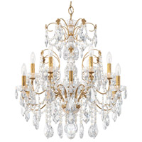 Schonbek 1712-26 Century 12 Light 30 inch French Gold Chandelier Ceiling Light