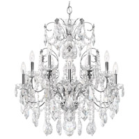 Schonbek 1712-40 Century 12 Light 30 inch Silver Chandelier Ceiling Light in Polished Silver