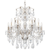 Schonbek 1712-48 Century 12 Light 30 inch Antique Silver Chandelier Ceiling Light