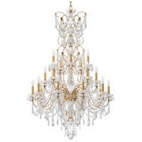 Schonbek 1716-26 Century 20 Light 37 inch French Gold Chandelier Ceiling Light