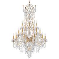 Schonbek 1716-26 Century 20 Light 37 inch French Gold Chandelier Ceiling Light