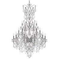 Century 20 Light 37 inch Silver Chandelier Ceiling Light in Polished Silver