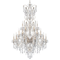 Schonbek 1716-48 Century 20 Light 37 inch Antique Silver Chandelier Ceiling Light