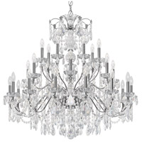 Century 28 Light 43 inch Silver Chandelier Ceiling Light in Polished Silver