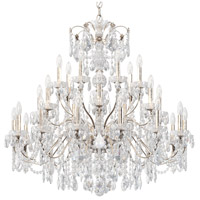 Century 28 Light 43 inch Antique Silver Chandelier Ceiling Light