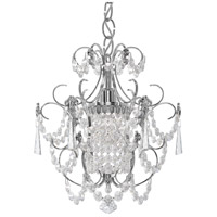 Century 1 Light 13 inch Silver Chandelier Ceiling Light in Polished Silver