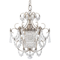 Schonbek 1829-48 Century 1 Light 13 inch Antique Silver Chandelier Ceiling Light