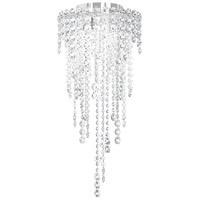 Chantant 3 Light 11 inch Stainless Steel Flush Mount Ceiling Light in Clear Heritage, Strand