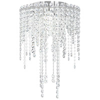 Chantant 4 Light 14 inch Stainless Steel Flush Mount Ceiling Light in Clear Heritage, Strand
