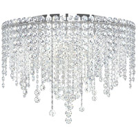 Schonbek CH1801N-401H Chantant 5 Light 21 inch Stainless Steel Flush Mount Ceiling Light in Clear Heritage, Strand