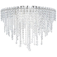 Schonbek CH2401N-401A Chantant 6 Light 24 inch Stainless Steel Flush Mount Ceiling Light in Clear Spectra, Strand